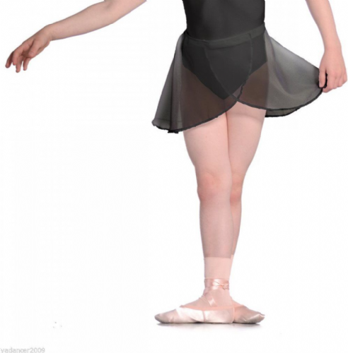 Roch Valley Dance Georgette Wrap SKIRT RAD Exam Regulation Uniform Ballet Black